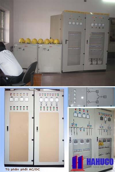 hình ảnh tủ điện phân phối xoay chiều AC, một chiều DC