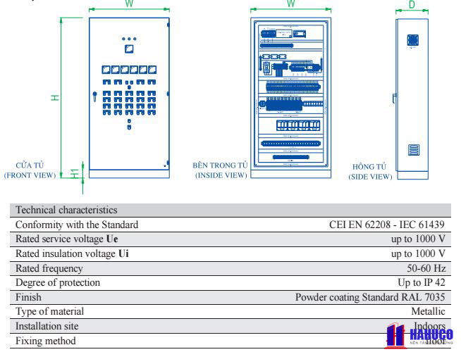 tủ điện điều khiển HC2 giá rẻ
